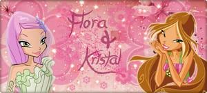 Flora and Krystal fond d'écran