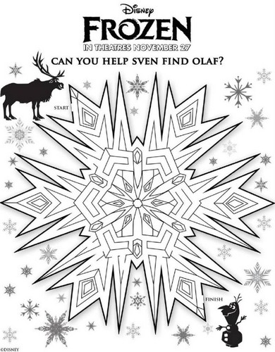 Frozen wallpaper called Frozen Activity Sheets