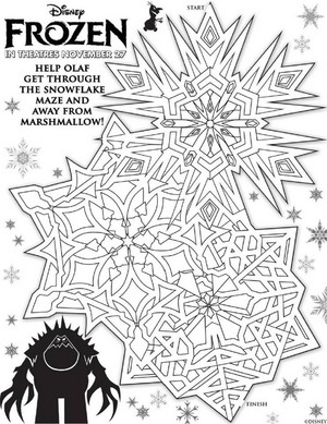La Reine des Neiges Activity Sheets
