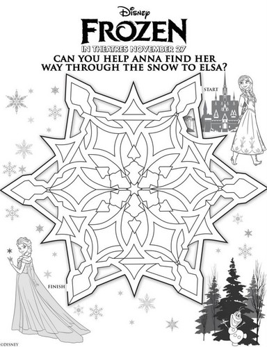 Frozen Hintergrund called Frozen Activity Sheets