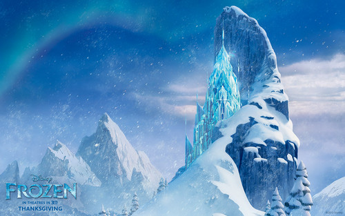 Frozen wallpaper probably containing a ski resort and a snowbank entitled Frozen wallpaper