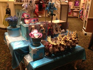 Frozen display at the Emporium in WDW
