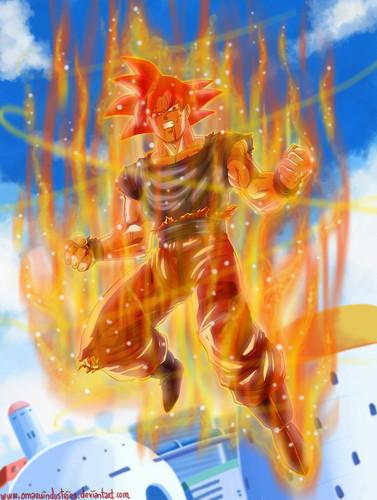 Dragon Ball Z wallpaper entitled Goku Super Saiyan God