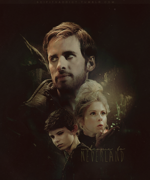Hook, Peter Pan & Tinker Bell