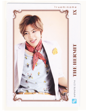 INFINITE Dongwoo– Official Collection Card Vol. 1 Scans