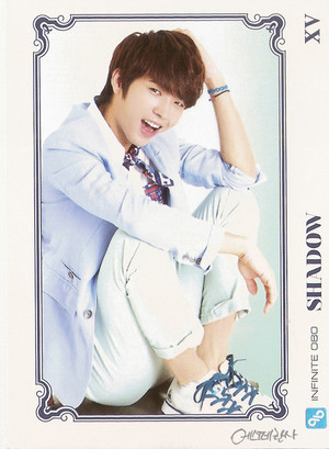 INFINITE Woohyun– Official Collection Card Vol. 1 Scans