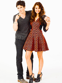 Ian Somerhalder, Paul Wesley and Nina Dobrev - Entertainment Weekly Comic Con Portrait 2013