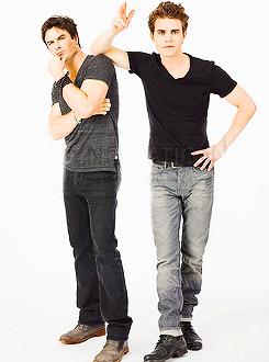 Ian Somerhalder, Paul Wesley and Nina Dobrev - Entertainment Weekly Comic Con Portrait 2013