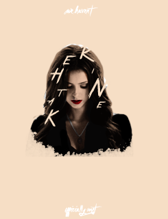 Katherine Pierce Hintergrund entitled It's because I never looked back.