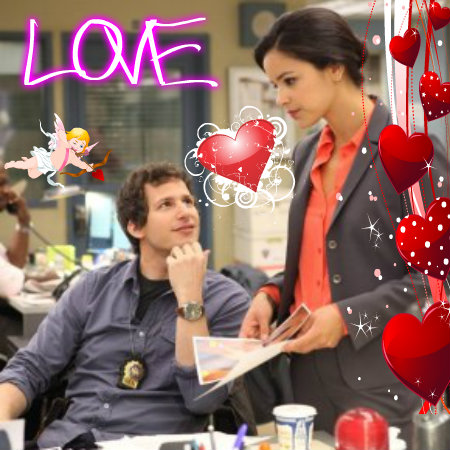 Brooklyn Nine-Nine kertas dinding titled Jake and Melissa