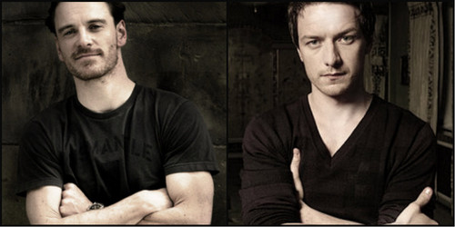 James McAvoy and Michael Fassbender wallpaper titled James McAvoy & Michael Fassbender
