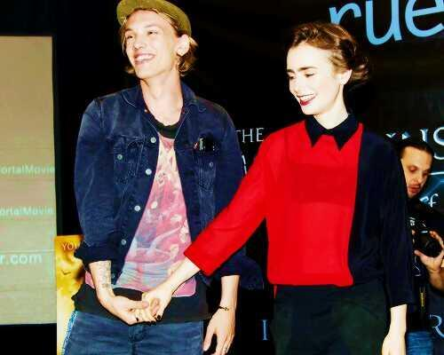 Jamie Campbell Bower achtergrond with a leisure wear and an outerwear titled Jamie♥