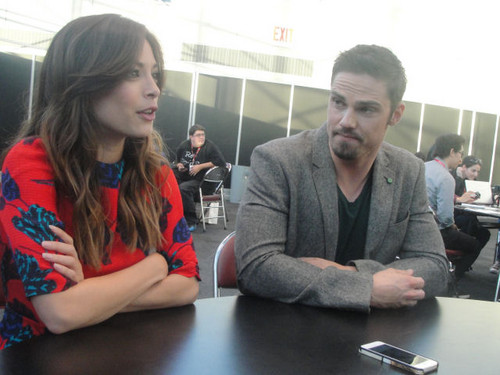 Beauty and the Beast (CW) wallpaper probably with a sign titled Jay&Kristin-New York Comic Con,2013