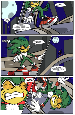 Jet the Werehawk transformation pg. 1