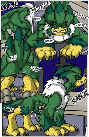 Jet the Werehawk transformation pg. 7