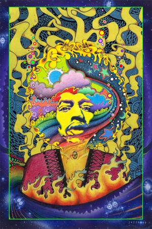 Jimi Hendrix door Jeff Hopp