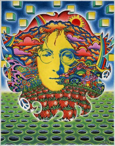 The Beatles Wallpaper Called John Lennon Por Jeff Hopp