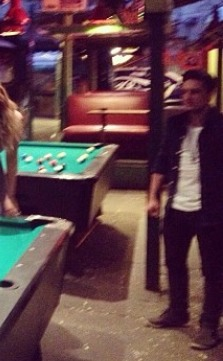 Josh Hutcherson wallpaper containing a pool table, a billiard room, and a sala da biliardo titled Josh (10.16.2013)