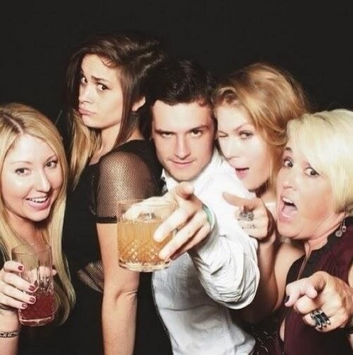 Josh at his 21st birthday party in SoHo House, L.A. (10.12.13)