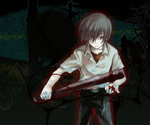 Higurashi no Naku Koro ni wallpaper probably containing a sign entitled Keiichi Maebara