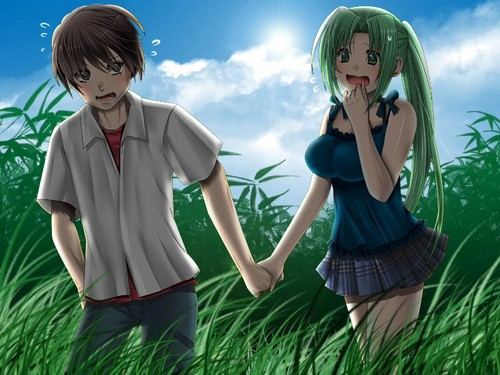 Higurashi no Naku Koro ni wallpaper called Keiichi & Mion