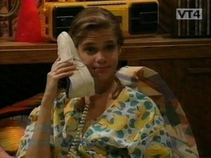 Kimmy on the phone
