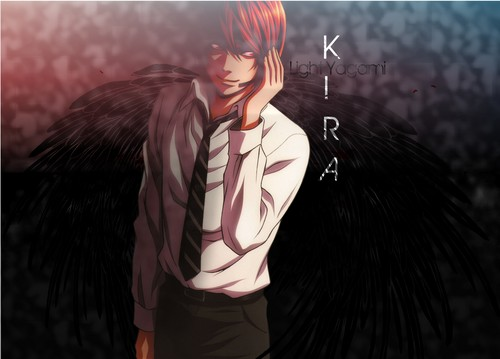 Death Note wallpaper probably containing a well dressed person and a business suit called Kira Wallpaper