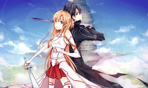 Sword Art Online wallpaper entitled Kirito and Asuna