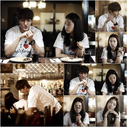 Lee Min Ho wallpaper called Lee Min Ho and Park Shin Hye 'Heirs'