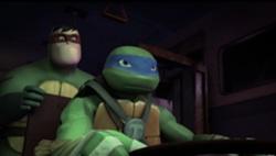 2012 Teenage Mutant Ninja Turtles 壁紙 entitled Leonardo and Pulverizer