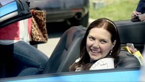 Lindsay in her own car