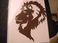 Lion - drawing photo