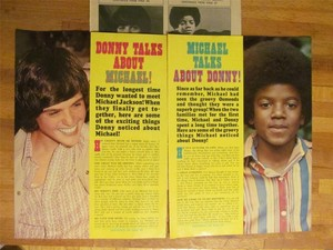 Magazine Clippings Pertaining To Michael And Donny Osmond