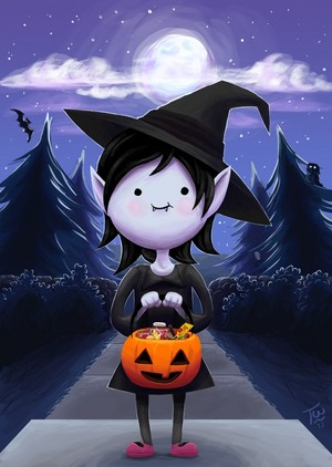 little Marceline trick or treat