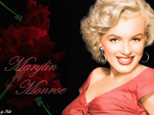 Marilyn Monroe wallpaper containing a portrait entitled Marylin Monroe