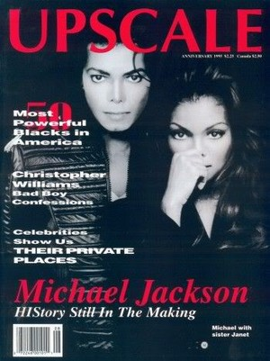 Michael And Janet On The August 1995 Issue Of UPSCALE Magazine