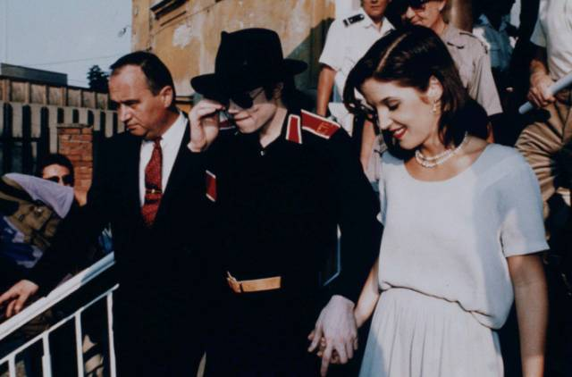 Michael And Lisa Marie In Budapest Back In 1994