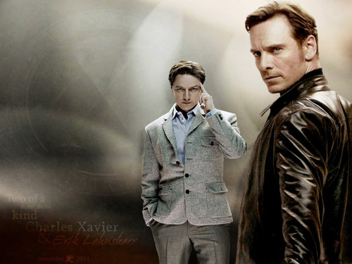 James McAvoy and Michael Fassbender 壁紙 with a well dressed person called Michael & James ★