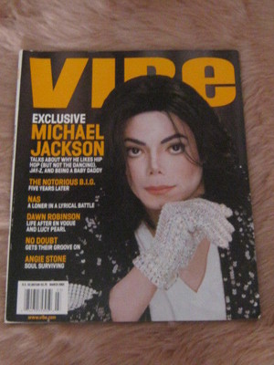 Michael On The Cover Of The 2002 Issue Of VIBE Magazine