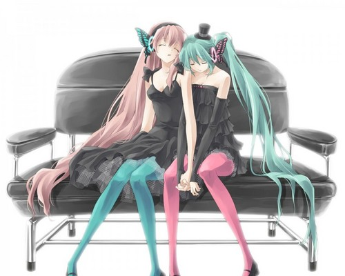 Vocaloids wallpaper entitled Miku x luka