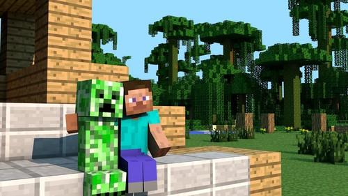 Minecrat Hintergrund titled Minecraft!
