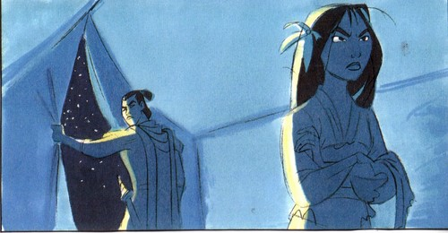 Mulan kertas dinding containing Anime entitled Mulan 2 concept art