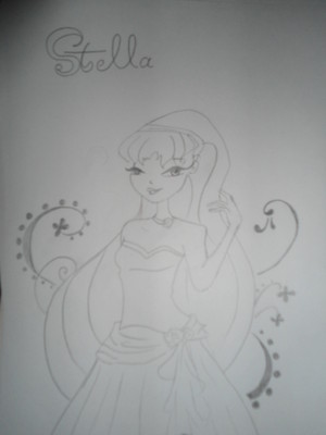 My Drawings (Winxs Flora and Stella)