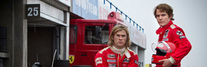 Niki Lauda and James Hunt Banner