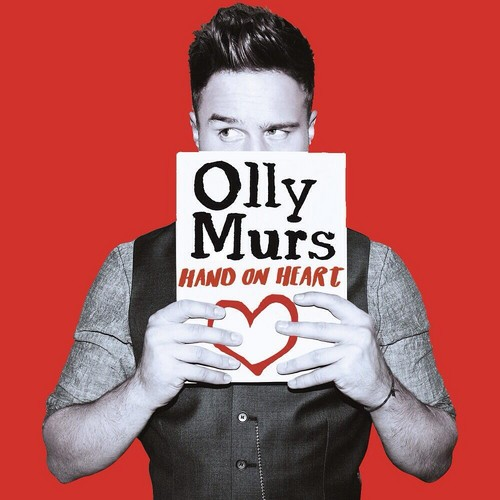 Olly Murs karatasi la kupamba ukuta titled Official Hand on moyo Single Artwork