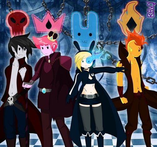 Adventure Time With Finn and Jake wallpaper entitled Other Selves (Black Rock Shooter Reference)