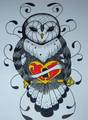 Owl - drawing photo