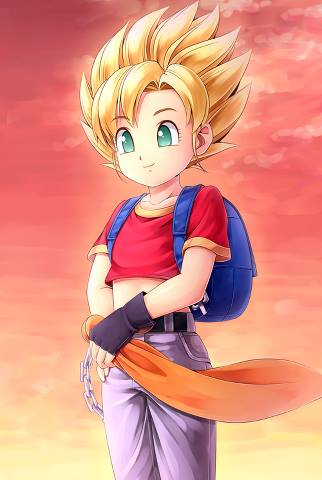 dragon ball z wallpaper entitled Pan As A Super Saiyan...?