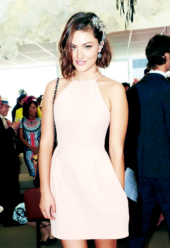 Hayley پیپر وال probably with a کاک, کاکٹیل dress, a chemise, and tights titled Phoebe Tonkin