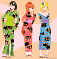 Powerpuff girls in kimono - powerpuff-girls fan art